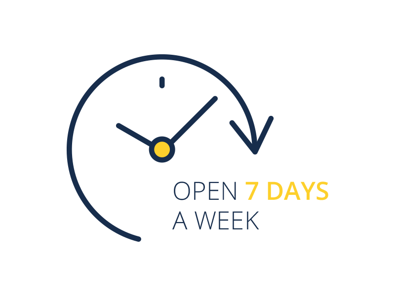 Open 7 Days A Week Icon
